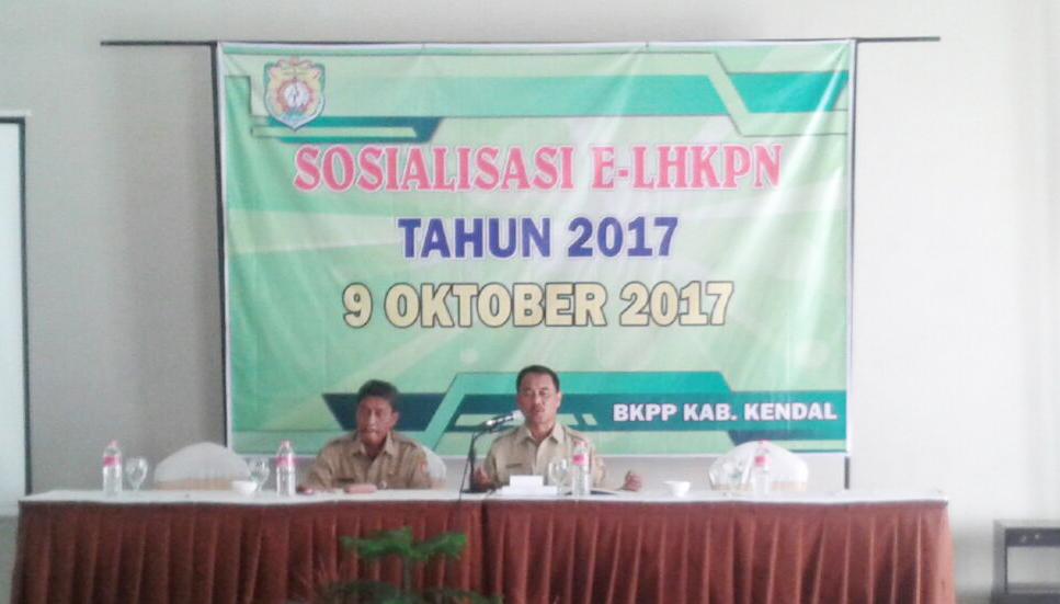 Sosialisasi Peraturan KPK-RI Nomor 7 Tahun 2016 dan pengenalan aplikasi E-LHKPN